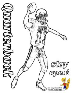 quarterback coloring page at yescoloring tell other kids you found cool coloring pages at