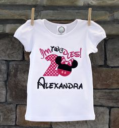 I'm Twodles! Minnie Mouse 2nd Birthday T-Shirt~Personalized Embroidered by TheChicBee on Etsy https://www.etsy.com/listing/226129695/im-twodles-minnie-mouse-2nd-birthday-t
