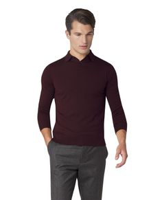 f8457e4b505 ... the Noland polo combines a light merino knit with a long sleeved polo  style jumper. The perfect piece for wearing as part of a formal suit  outfit