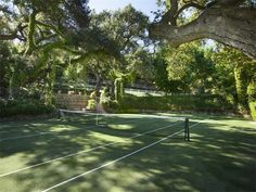 MY DREAM TENNIS COURT! GRASS COURT with BIG TREES!!!!