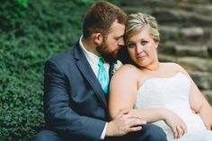 intimate bride and groom portrait | summer wedding