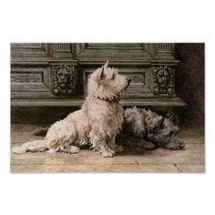 Vintage Dog Image Poster