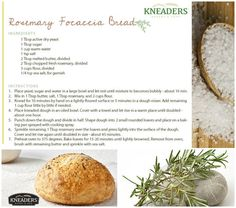 While Rosemary Focaccia Bread bakes, the scent of fragrant rosemary will fill your kitchen and warm your entire home! #kneaders