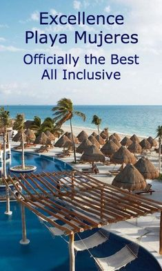 I have never felt like I was truly at a all-inclusive until my experience at the Excellence Playa Mujeres in Cancun, Mexico. It's adult-only, offers 9 restaurants and 11 bars, and offers a variety of activities. Adult All Inclusive Resorts, All Inclusive Mexico, Couples Resorts, Cancun Resorts, Maui Vacation, Mexico Vacation, Mexico Travel, Beach Trip, Vacation Spots