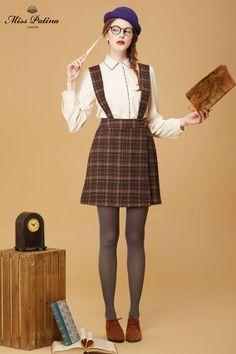 Brace Yourself Skirt (Brown Tartan) (2)