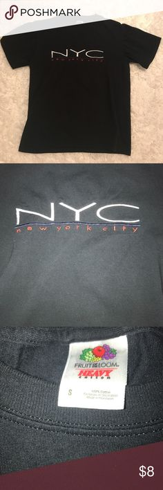 NYC New York City Tee Shirt Show your pride for the Big Apple with this embroidered NYC tee. Pair with jean shorts and Nike Air Max 90's for a cool look. Tops Tees - Short Sleeve