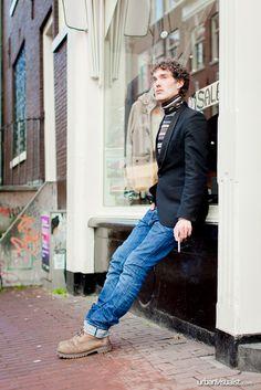 Sander on his cigarette break, Amsterdam - [ Street Style ] #fashion #streetfashion #streetstyle #menswear  See original post on www.urbanvisualist.com