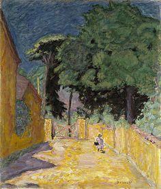 Pierre Bonnard / Ruelle à Vernonnet [Lane at Vernonnet] / about 1912 - 1914 / oil on canvas