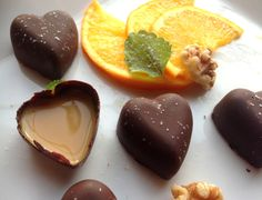Karamellfylte sjokolader ~ oppskrift på sunn SMIL