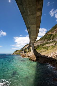 The Sea Bridge at Coalcliff NSW Australia. The only way to avoid Falling Rocks! Brilliant design ...