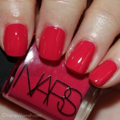 Last but not least, I love this color...it's called Anardana and is from the Thakoon for NARS collection.  This is a beautiful, bright raspberry color.  Pic courtesy of Vampy Varnish.