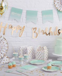 This gorgeous mint green party theme would be perfect for a birthday party or a baby shower. Browse our full range of mint green party supplies at partydelights.co.uk.