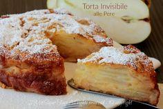 Torta invisibile alle pere ... poca torta e tante pere