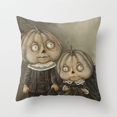 Rucus Studio Ghoul Kids Throw Pillow by Scott Smith - $20.00
