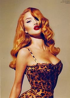 50s Pin Up Lingerie | ... pin up girl. The hair, the lips, the leopard print - all very pin up