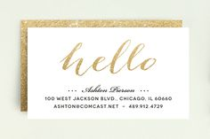 Hello Friend Business Cards by Erin Deegan at minted.com