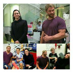 Boa iniciativa! Os heróis da Marvel #ChrisHemsworth e #TomHiddleston visitaram o Hospital infantil, Lady Cilento na Austrália. • • • • • • • • • • • • • • • • • • • • • • • • • • • • • Nice initiative! The heroes of Marvel @chrishemsworth and @twhiddleston visited the children's Hospital, Lady Cilento in Australia.
