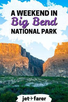 Big Bend National Park sits on the Texas-Mexico border and is one of the most underrated and beautiful and places in the US. Click to learn more about what to do on a weekend in Big Bend National Park, Texas! | camping in Big Bend | big bend winter | big bend camping | big bend photography | big bend lodging | big bend hiking | weekend trip ideas | us national parks | us travel | national parks road trip | road trip ideas | bucket list ideas | US bucket list | outdoor travel |