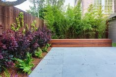 Bluestone Pavers and Refinished Fence :: Just cut of scalloped top of fence for more modern straight line look. Garden Landscape Design, Landscape Architecture, Colorado Springs, Amazing Gardens, Beautiful Gardens, Bluestone Pavers, Interior Garden, Garden Pictures, Garden Inspiration