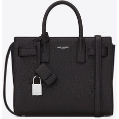 Saint Laurent Baby Sac De Jour In Black Grained Leather ($1,990) via Polyvore