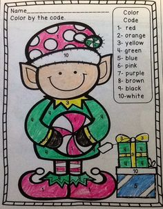 FREE color by number elf! Check out Polar Express and get into the spirit of the holidays!