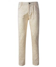 Mens Trousers Pants Brocade VTG Gothic Aristocrat Steampunk Side braiding Trim - Cream - CX182IHS55W,Men's Clothing, Pants  #Outdoor #Pants #Men #Pants Men Pants, Camo Pants, Trouser Pants, White Pants Summer, Outdoor Pants, Mens Fleece, Suit Separates, Slim Man, Work Pants