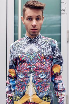 SHIRT designed by cracow artist MAGGIE PIU. Organic, certifited, 100% cotton. High quality print.
