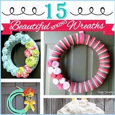 15 Beautiful Spring Wreaths