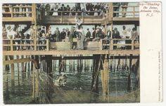Vintage Hauling the Scene Atlantic City, New Jersey postcard
