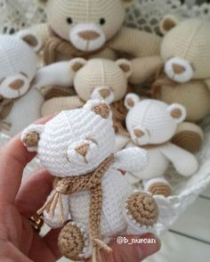 Likes, 46 Comments - Nur Crochet Teddy, Crochet Bear, Cute Crochet, Crochet Animals, Beautiful Crochet, Crochet Crafts, Crochet Dolls, Yarn Crafts, Crochet Projects