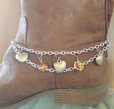 My friend had a idea. She found this old bracelet. I made it into boot bling.