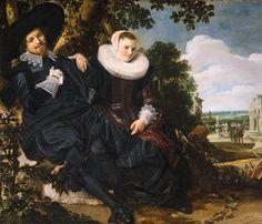 Frans Hals - Married Couple in a Garden, 1622 - Wedding portrait of Isaac Abrahamsz Massa and Beatrix van der Laan