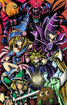 Yu-Gi-Oh! Duel Monsters Colored by skytabula Awesome Anime, Anime Love, Atem Yugioh, Geeks, Yugioh Monsters, Otaku, Yugioh Collection, Hokusai, Marvel