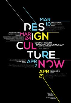 The poster was made a for a fictitious design conference involving Marian Bantjes, Jonathan Puckey, Johanna Bilak-Balusikova, and Martin Woodtli. This poster demonstrates hierarchy in terms of typography. All information was previously provided for the cr…