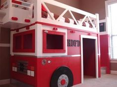 Fire truck loft bed - Step by step instructions