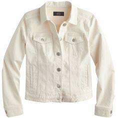 J.Crew Denim Jacket ($170) ❤ liked on Polyvore