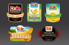 Dole Cavendish Cluster Pack Labels on Behance