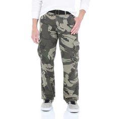 Wrangler Jeans Co. Men's Cargo Twill Pants, Size: 36 x 30, Green