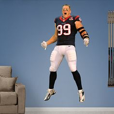1bf778d8 J.J. Watt: Entrance - Life-Size Officially Licensed NFL Removable Wall Decal