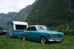 Gorgeous #retro #caravan and #Volvo combo. Love it!