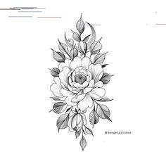 Pin by Lauren Segers on Tattoos Floral Tattoo Design, Flower Tattoo Designs, Flower Tattoos, Skull Rose Tattoos, Black Tattoos, Geometric Henna Tattoo, Cute Tattoos, Girl Tattoos, Tattoo P