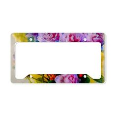 Rose Colour Pop License Plate Holder