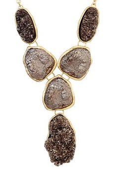 Gianna Druzy Drop Necklace
