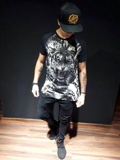 Camiseta RHILD - linha PREMIUM. T-SHIRT TIGER'S CHAINS.
