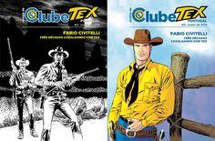 Revista nº 2 do Clube Tex Portugal e as DUAS versões da CAPA, ambas da autoria de Fabio Civitelli