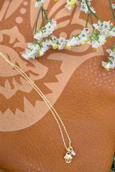 Mini Hamsa Charm Necklace