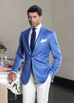 Karl really looks fabulous in that blue and white for Easter, it matches his eyes....