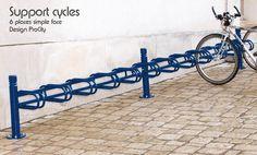 Support cycles DECO 6 places avec module complémentaires 6 cycles - Acier galvanisé laqué - Design ProCity