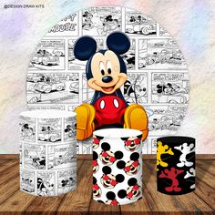 Backdrop Decorations, Backdrops, Mickey Mouse Decorations, Mini Mouse, Party In A Box, Designs To Draw, 2nd Birthday, Art Drawings, 1