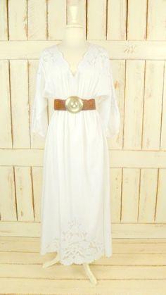 White lace maxi dress/vintage white lace by GreenCanyonRoad, $68.00